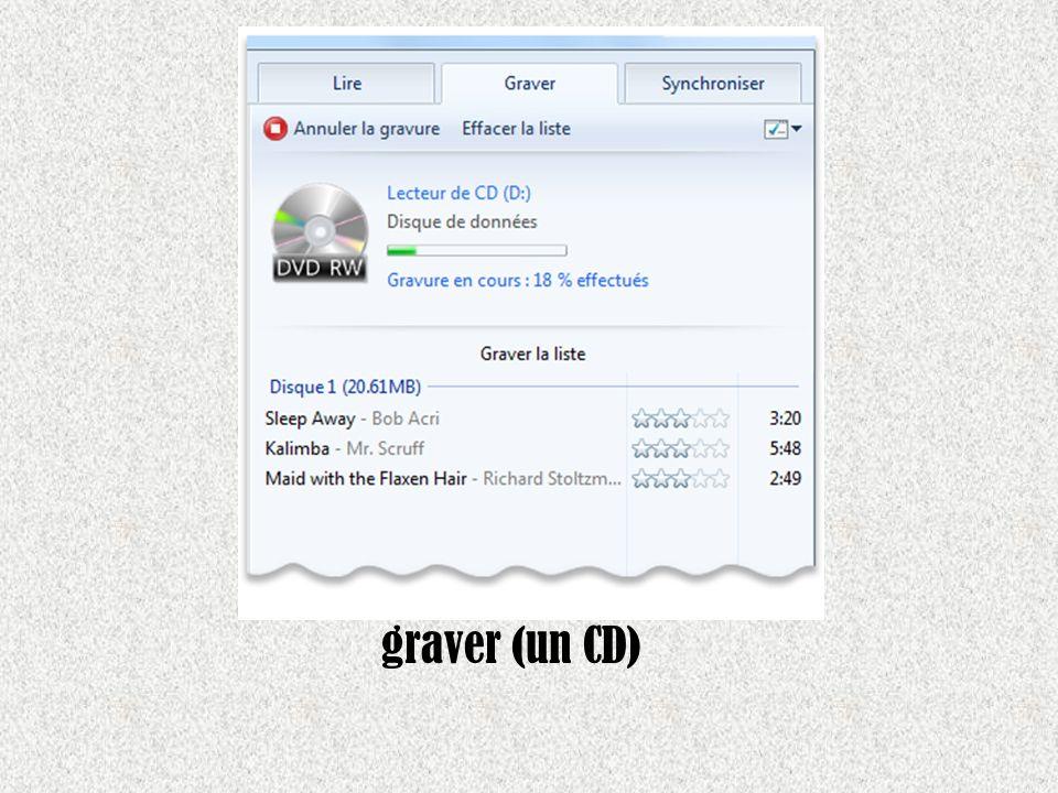 graver (un CD)
