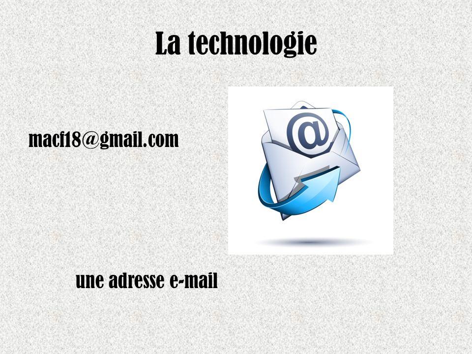 La technologie macf18@gmail.com une adresse e-mail