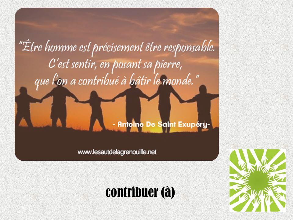contribuer (à)