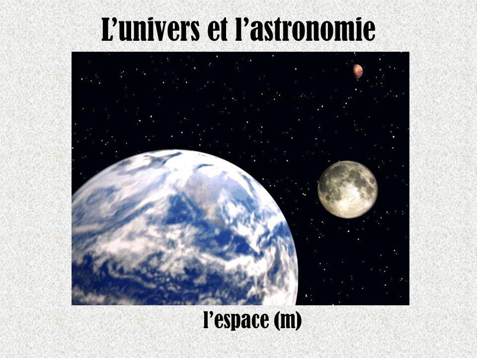 Lunivers et lastronomie lespace (m)