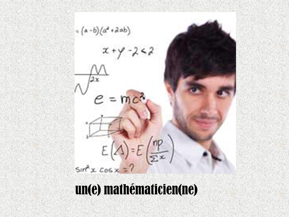 un(e) mathématicien(ne)