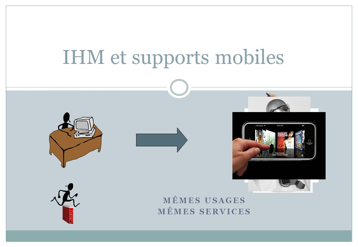 MÊMES USAGES MÊMES SERVICES IHM et supports mobiles