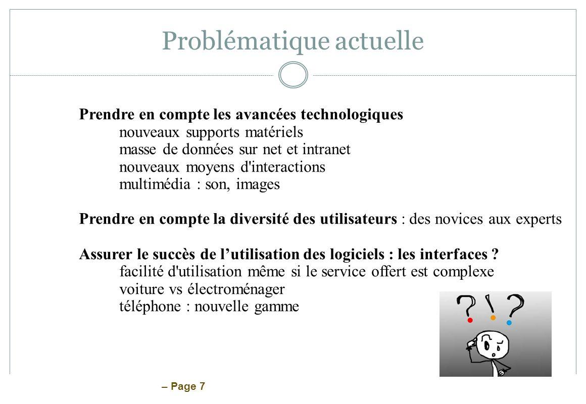 – Page 88 Proposition damélioration Réalisation dun maquette de bas niveau Conçue en fonction des besoins des utilisateurs