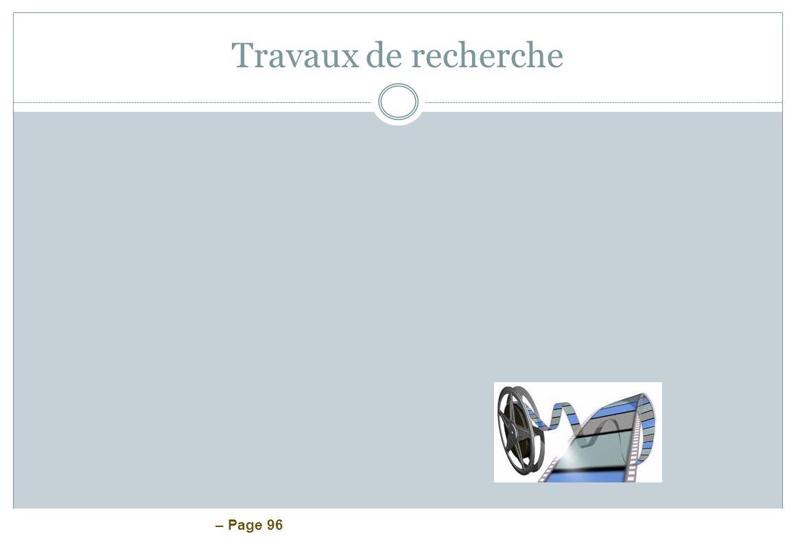 – Page 96 Travaux de recherche