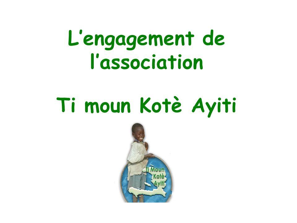 Lengagement de lassociation Ti moun Kotè Ayiti