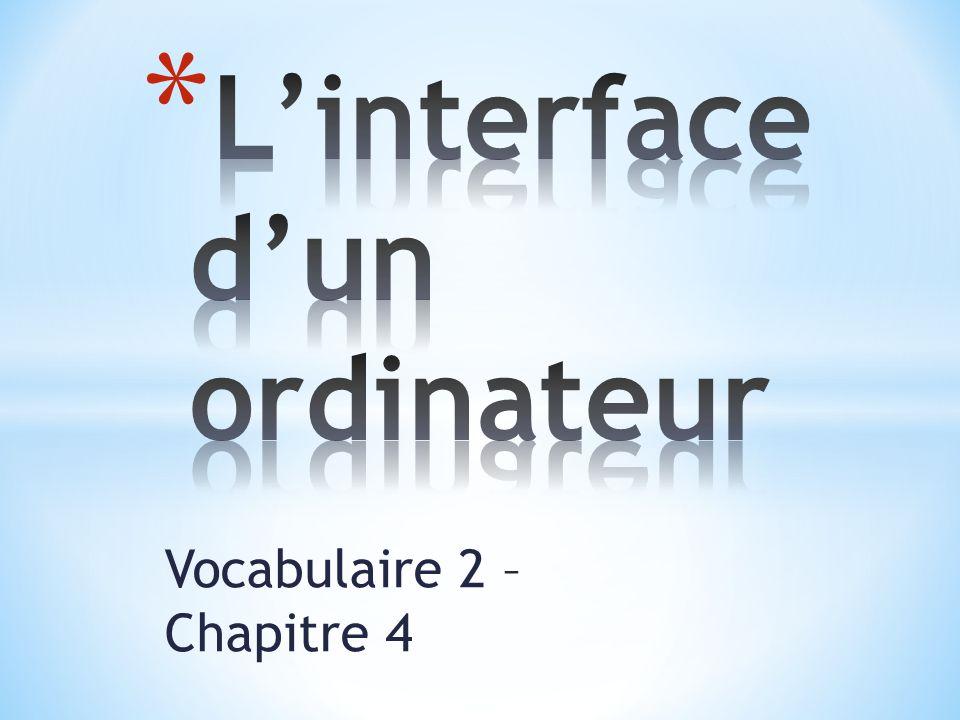 Vocabulaire 2 – Chapitre 4