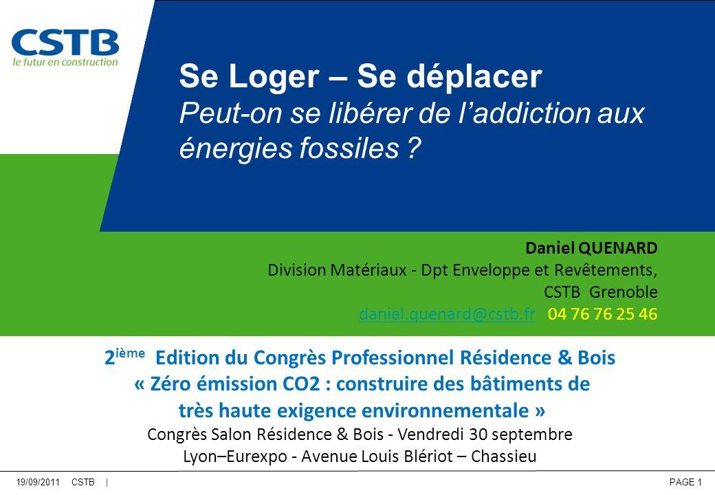 PAGE 32 N+K : Transport « pétrole » Production ENR Source : Raphael Ménard ECEEE – 2011 1 kWh = 3,6 MJ Vers des Territoires à Energie Positive 500 000 MJ EP/ha/an 5,4 kWh élec./m 2 /an 5,4% du territoire urbain 1 000 000 MJ EP/ha/an 10,8 kWh élec./m 2 /an 5,4% du territoire urbain Production ENR