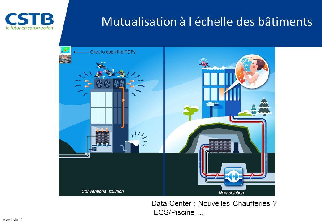 Mutualisation à l échelle des bâtiments www.helen.fi Data-Center : Nouvelles Chaufferies .
