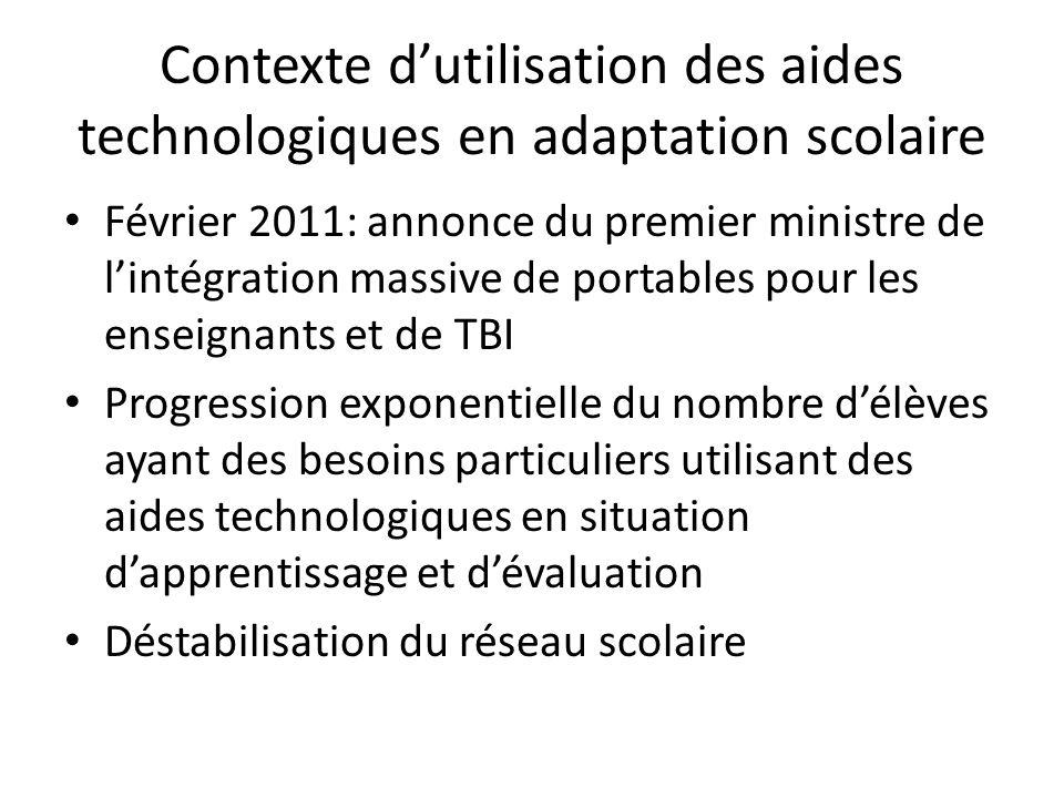 Les enjeux Équiper adéquatement les intervenants en adaptation scolaire: TBI et/ou aides technologiques .