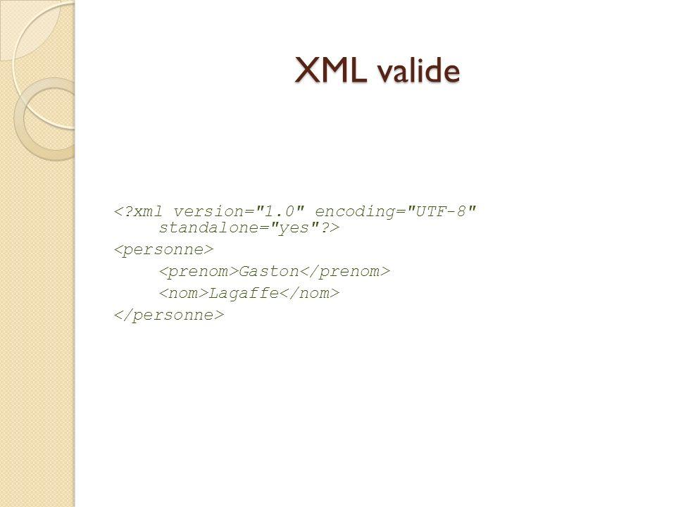 XML valide Gaston Lagaffe