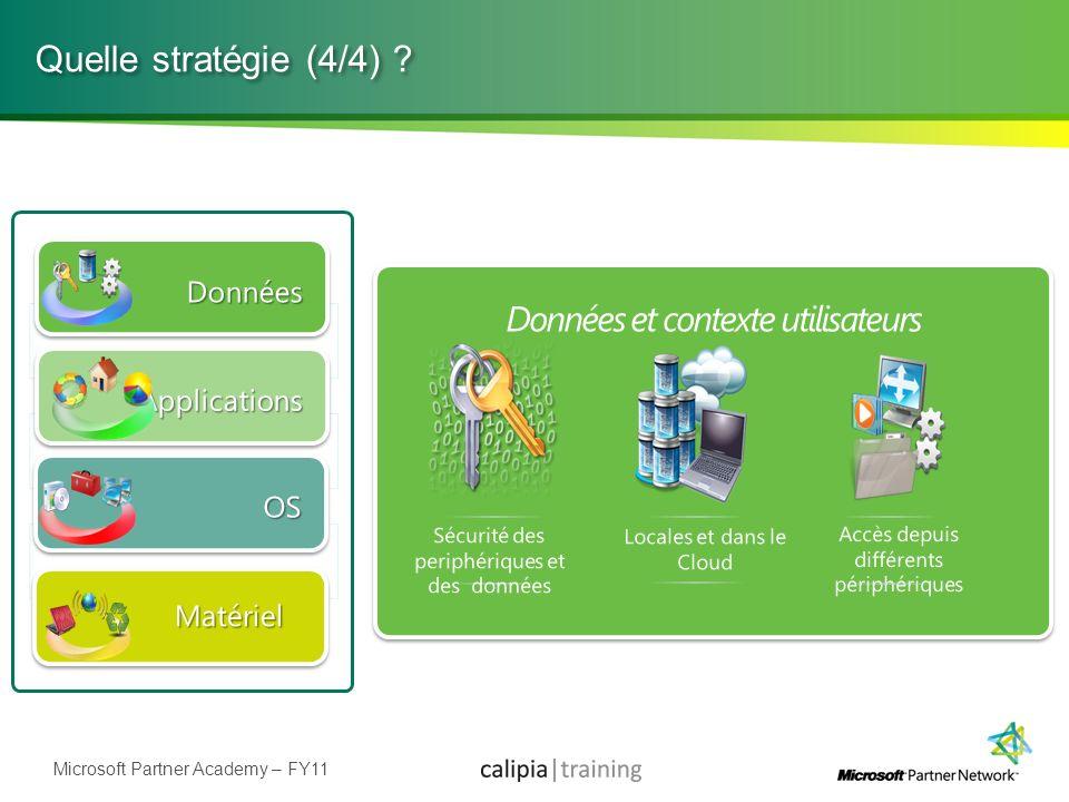 Microsoft Partner Academy – FY11 Quelle stratégie (4/4) ?