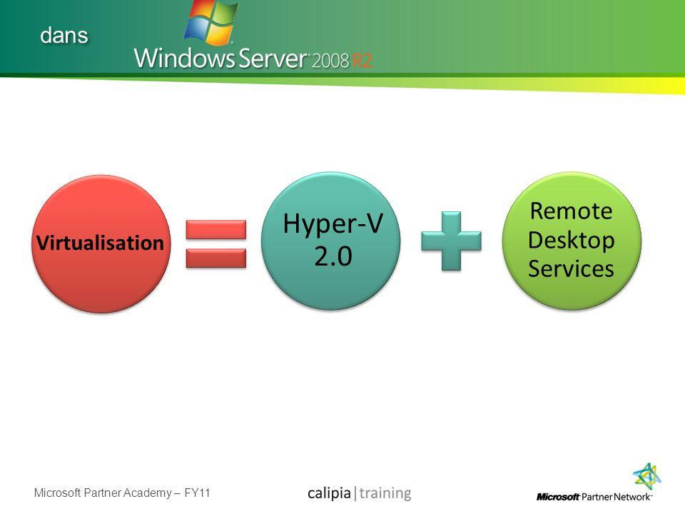 Microsoft Partner Academy – FY11 dans Virtualisation Hyper-V 2.0 Remote Desktop Services