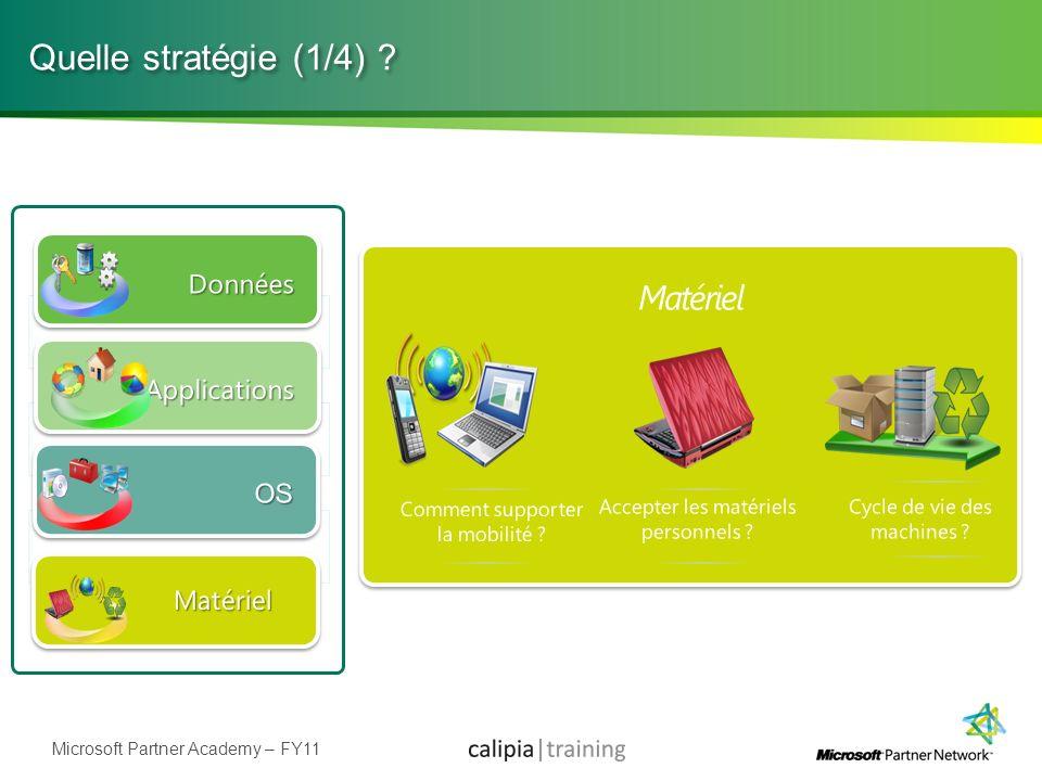 Microsoft Partner Academy – FY11 Quelle stratégie (1/4) ?