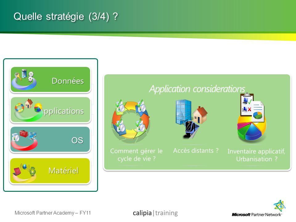 Microsoft Partner Academy – FY11 Quelle stratégie (3/4) ?