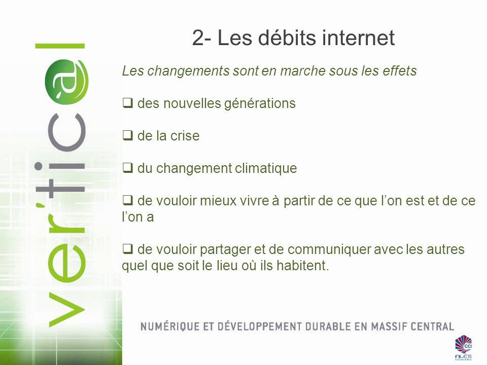 2- Les débits internet Les changements sont en marche sous les effets des nouvelles générations de la crise du changement climatique de vouloir mieux
