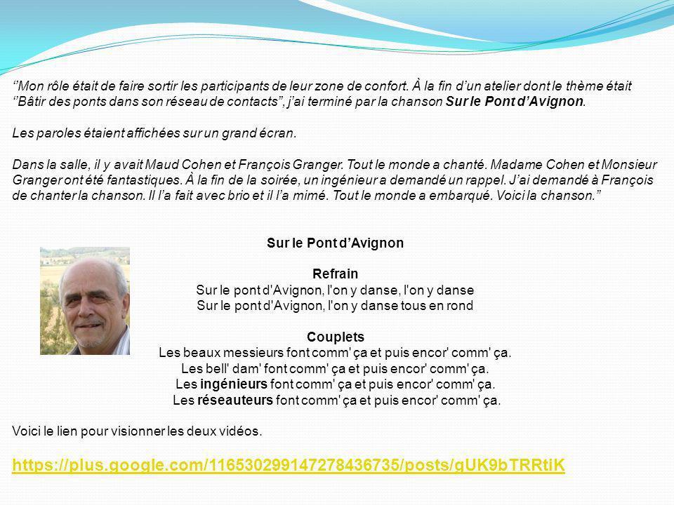 Chaque événement que Carrefour a pris le temps dorganiser, a permis à un bénévole dagir comme chef déquipe et de mettre en valeur ses talents cachés.