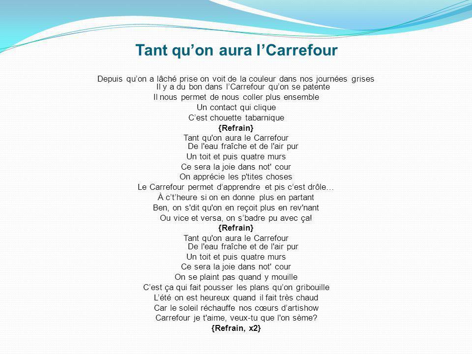 Le mandat de Carrefour sest terminé le 1 Juin 2012 avec un événement sur le thème Le retour du gros bon sens dans lénergie. À la fin de la soirée, il