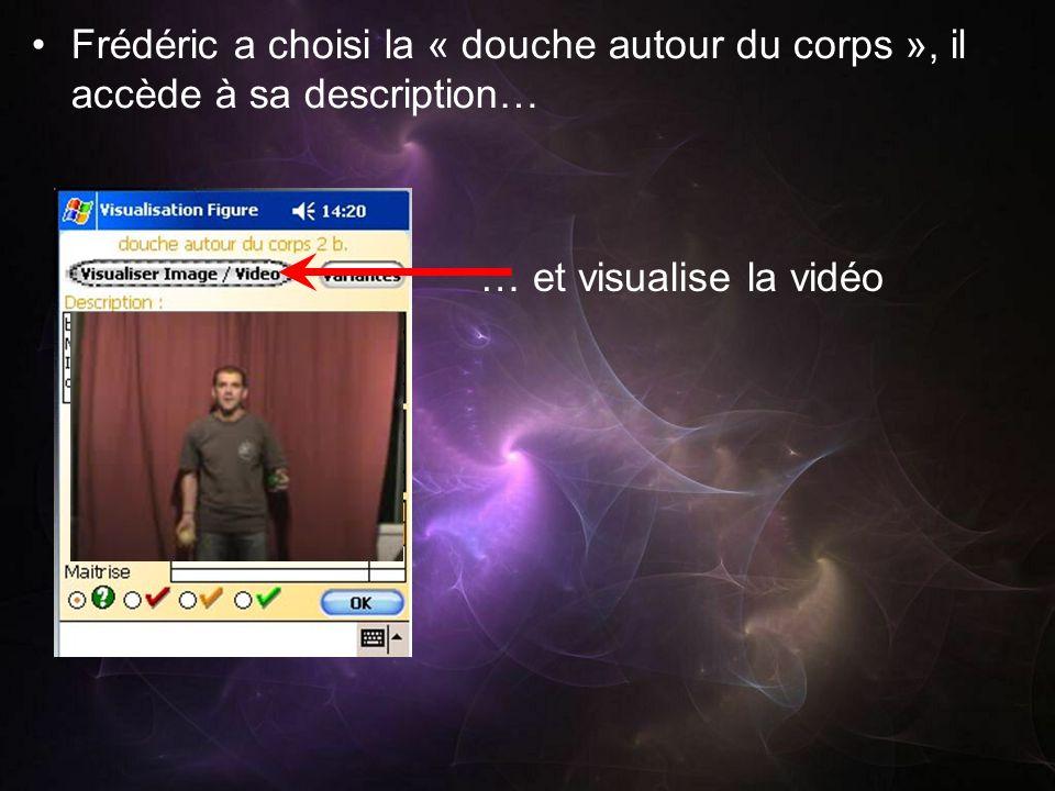 Frédéric a choisi la « douche autour du corps », il accède à sa description… … et visualise la vidéo