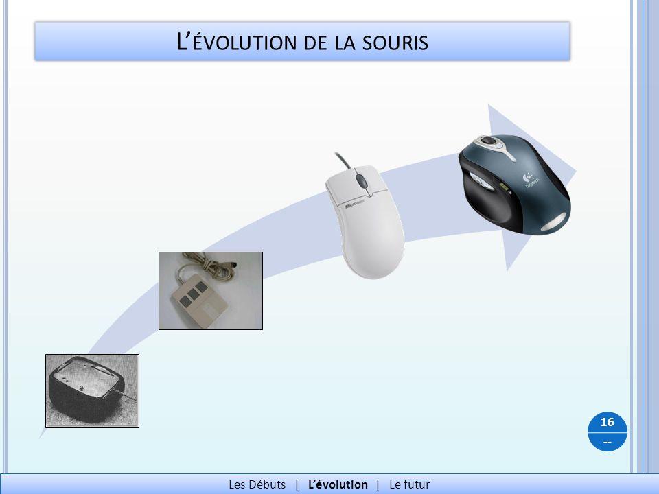 -- L ÉVOLUTION DE LA SOURIS 16 Les Débuts   Lévolution   Le futur