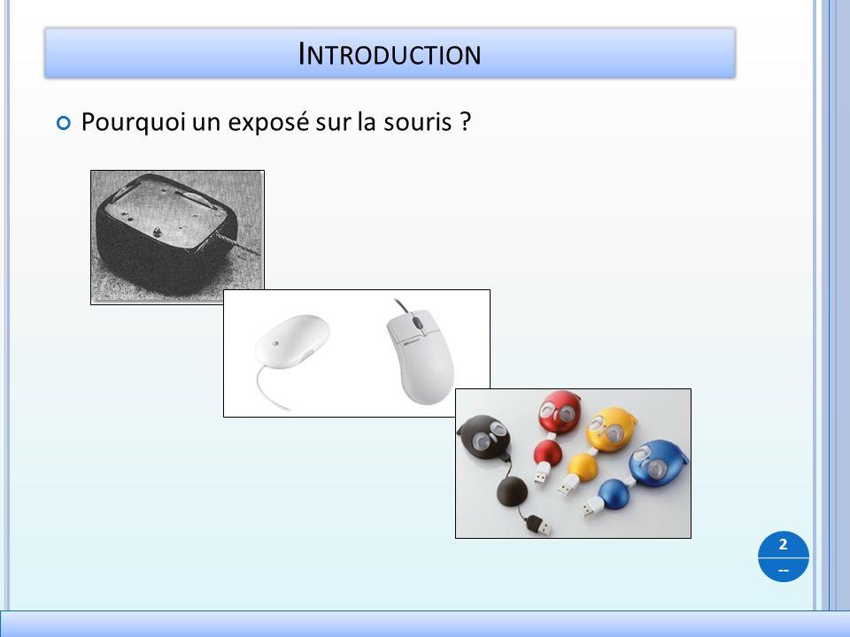 -- Pourquoi un exposé sur la souris ? I NTRODUCTION 2