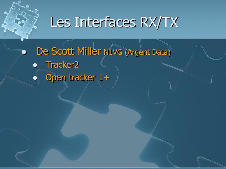 Les Interfaces RX/TX De Scott Miller N1VG (Argent Data) Tracker2 Open tracker 1+ De Scott Miller N1VG (Argent Data) Tracker2 Open tracker 1+