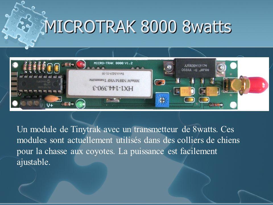 MICROTRAK 8000 8watts Un module de Tinytrak avec un transmetteur de 8watts. Ces modules sont actuellement utilisés dans des colliers de chiens pour la