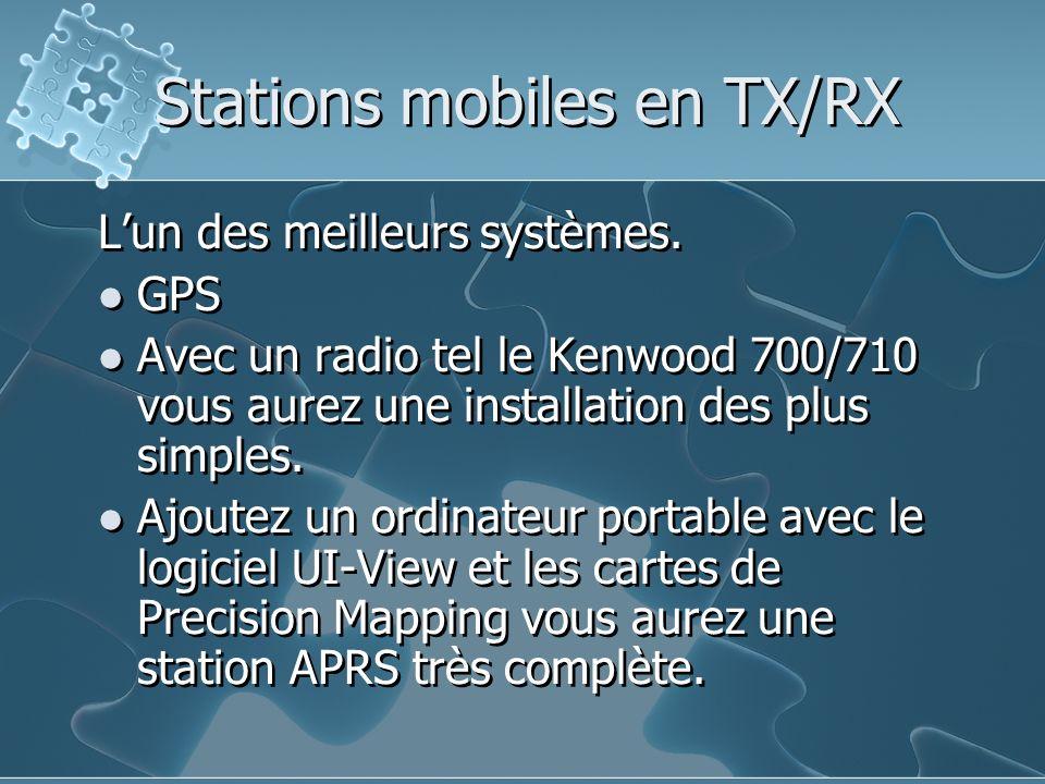 Stations mobiles en TX/RX Lun des meilleurs systèmes. GPS Avec un radio tel le Kenwood 700/710 vous aurez une installation des plus simples. Ajoutez u