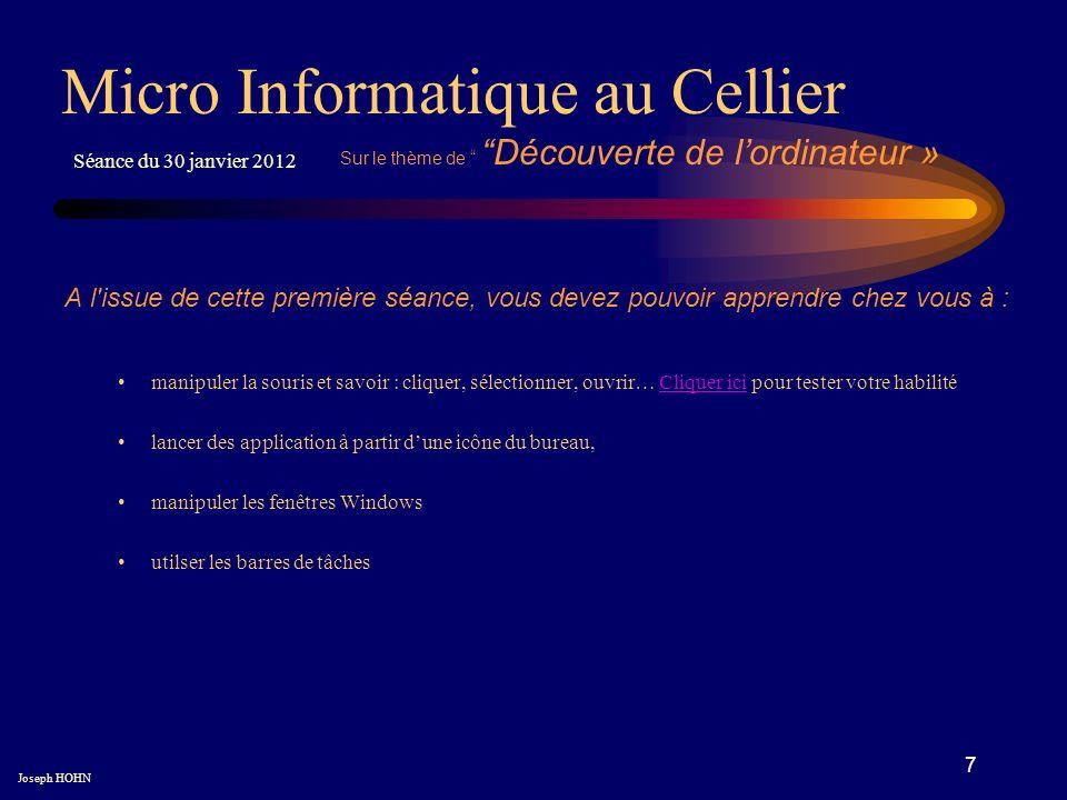 8 Fin du vidéogramme première séance Micro Informatique au Cellier Joseph HOHN