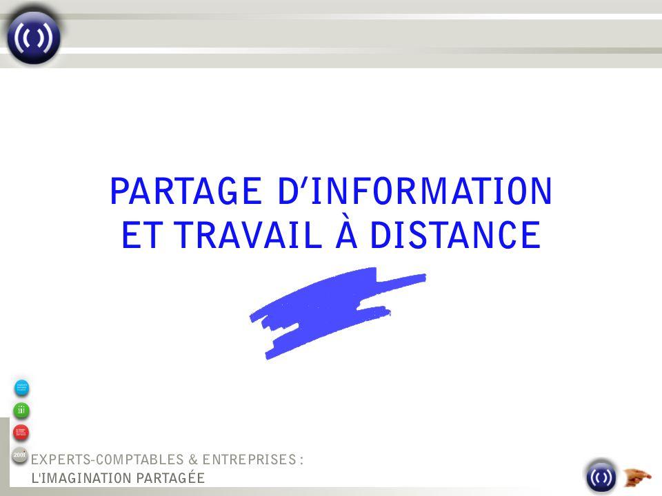 PARTAGE DINFORMATION ET TRAVAIL À DISTANCE