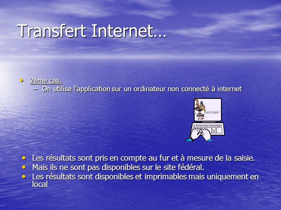 Transfert Internet… 2ème cas. 2ème cas.