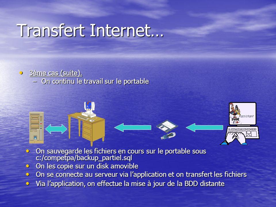 Transfert Internet… 3ème cas (suite). 3ème cas (suite).