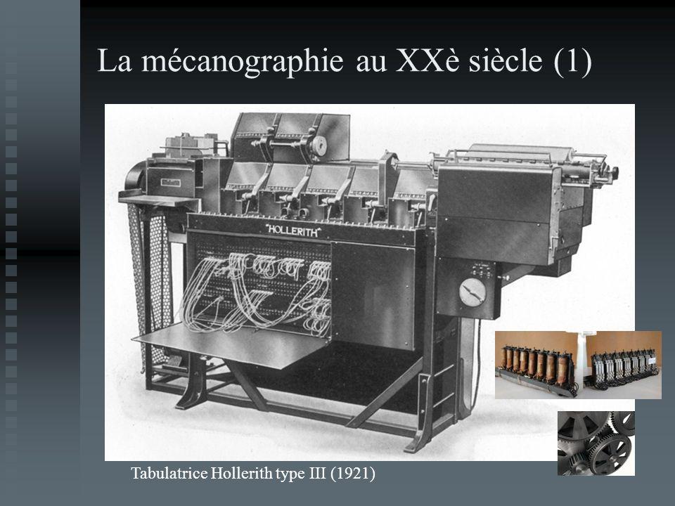 La mécanographie au XXè siècle (1) Tabulatrice Hollerith type III (1921)