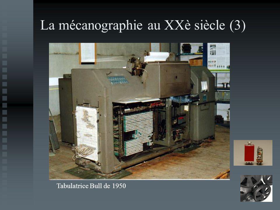 La mécanographie au XXè siècle (3) Tabulatrice Bull de 1950