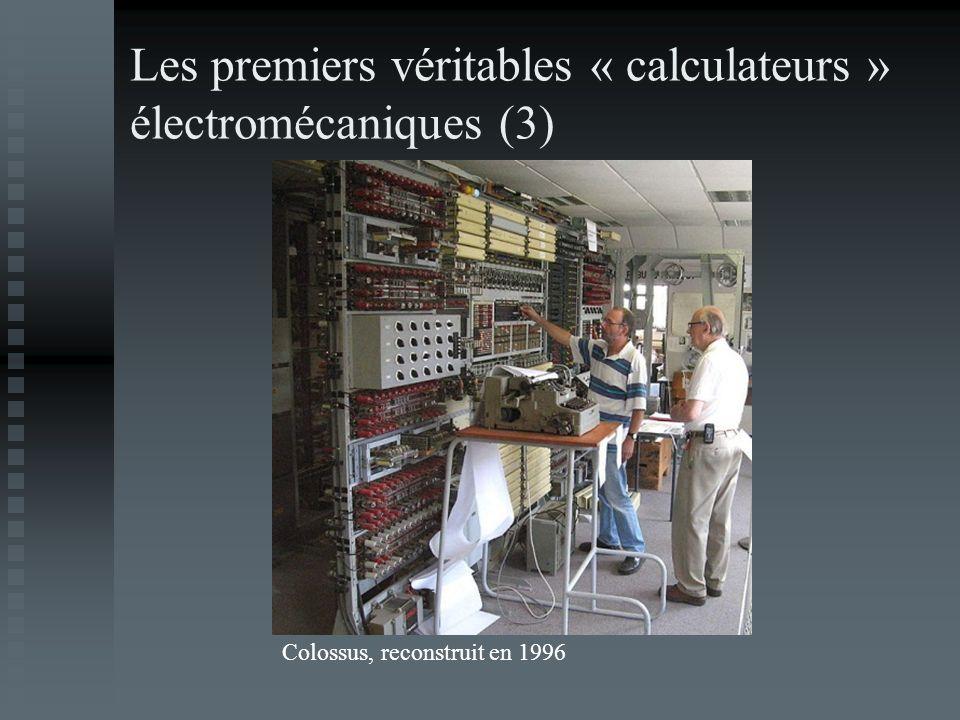 Les premiers véritables « calculateurs » électromécaniques (3) Colossus, reconstruit en 1996