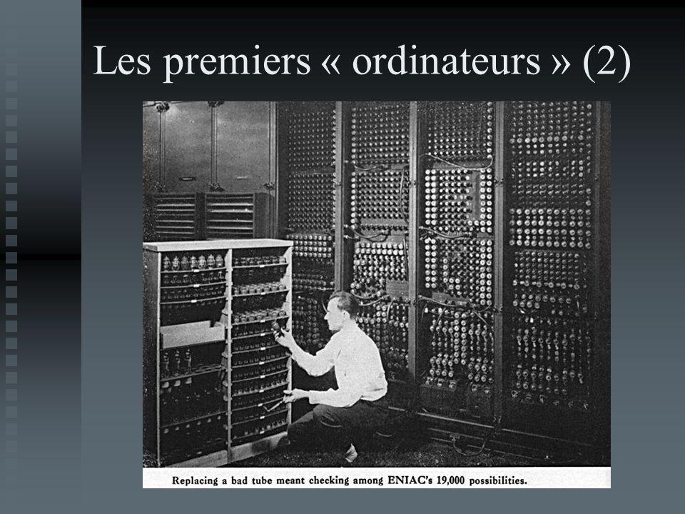 Les premiers « ordinateurs » (2)