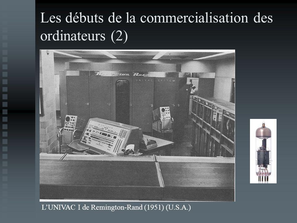Les débuts de la commercialisation des ordinateurs (2) LUNIVAC I de Remington-Rand (1951) (U.S.A.)