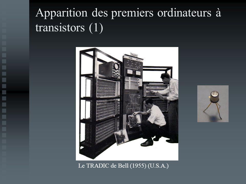 Apparition des premiers ordinateurs à transistors (1) Le TRADIC de Bell (1955) (U.S.A.)