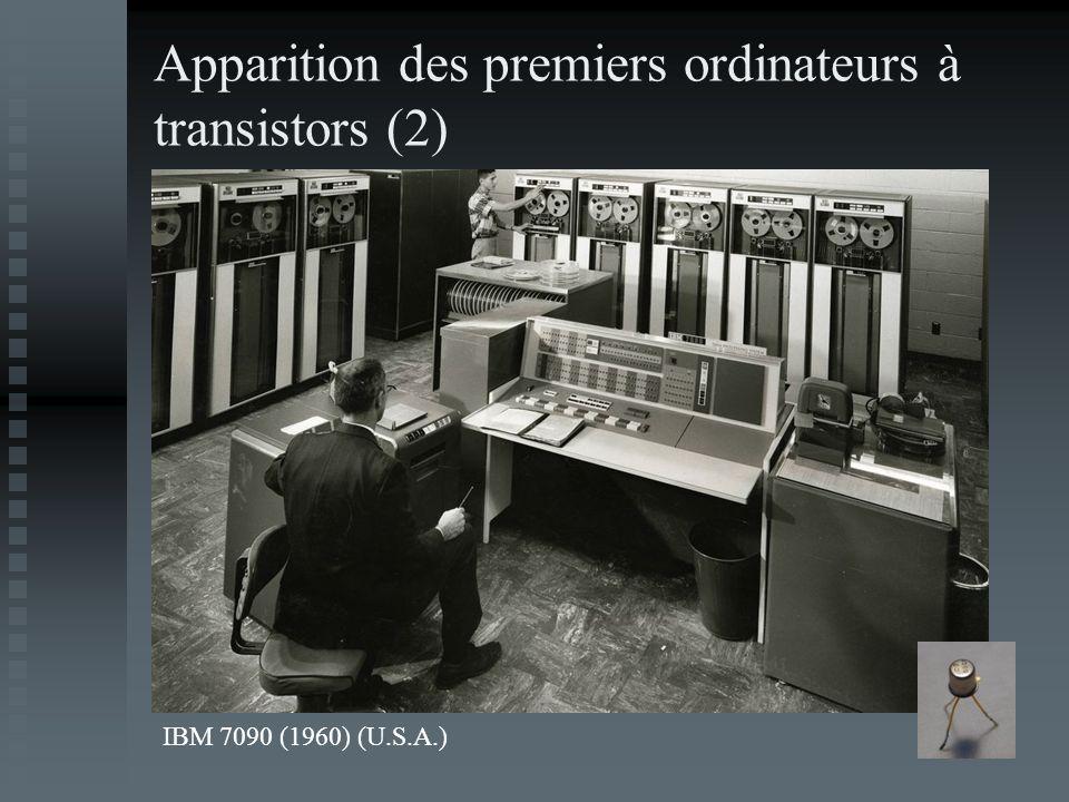 Apparition des premiers ordinateurs à transistors (2) IBM 7090 (1960) (U.S.A.)
