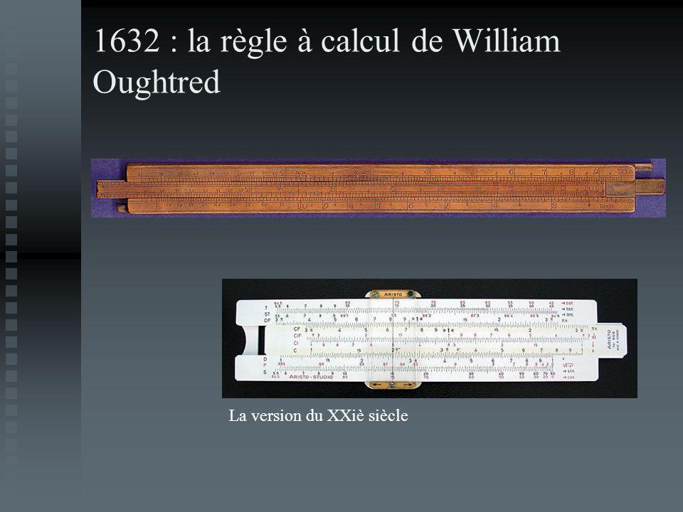 1632 : la règle à calcul de William Oughtred La version du XXiè siècle