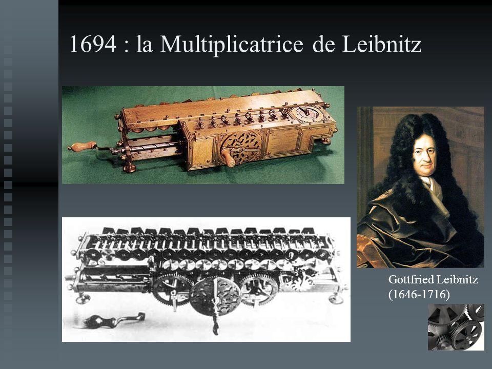 1694 : la Multiplicatrice de Leibnitz Gottfried Leibnitz (1646-1716)