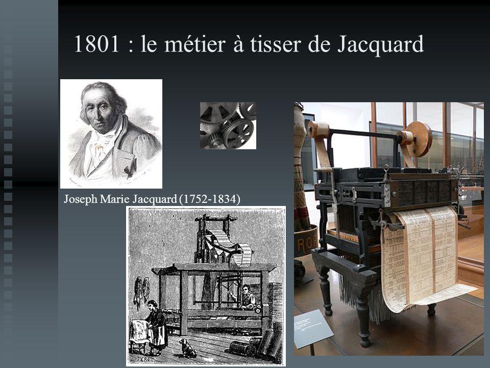1801 : le métier à tisser de Jacquard Joseph Marie Jacquard (1752-1834)