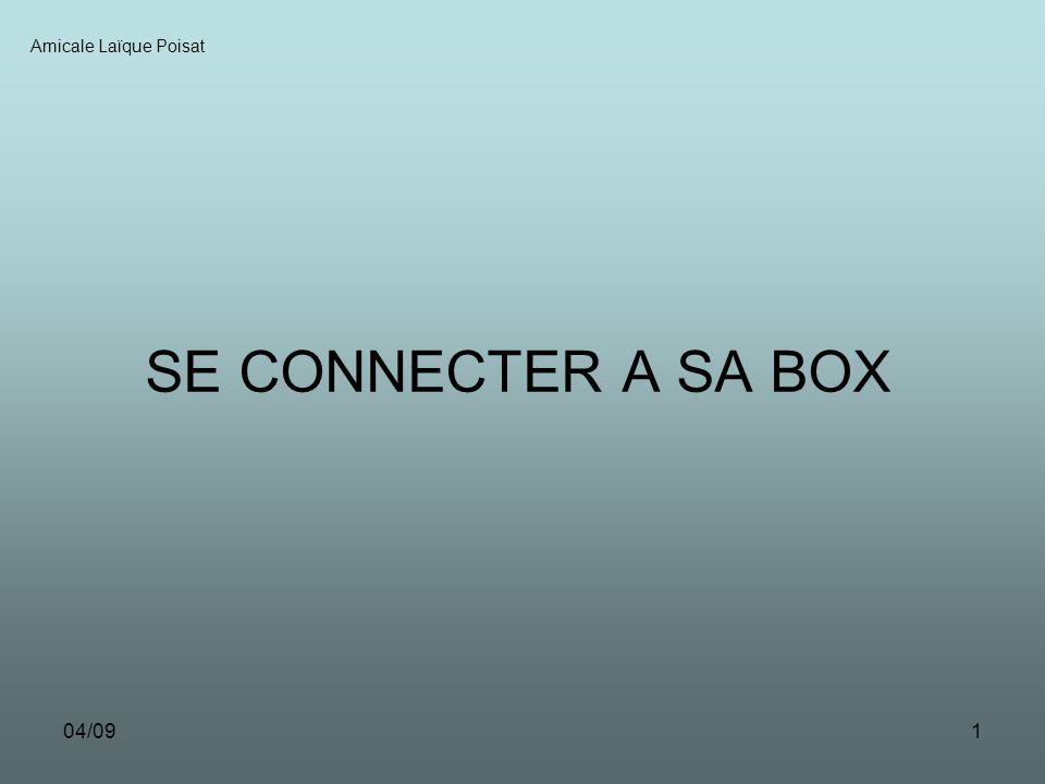 04/091 SE CONNECTER A SA BOX Amicale Laïque Poisat