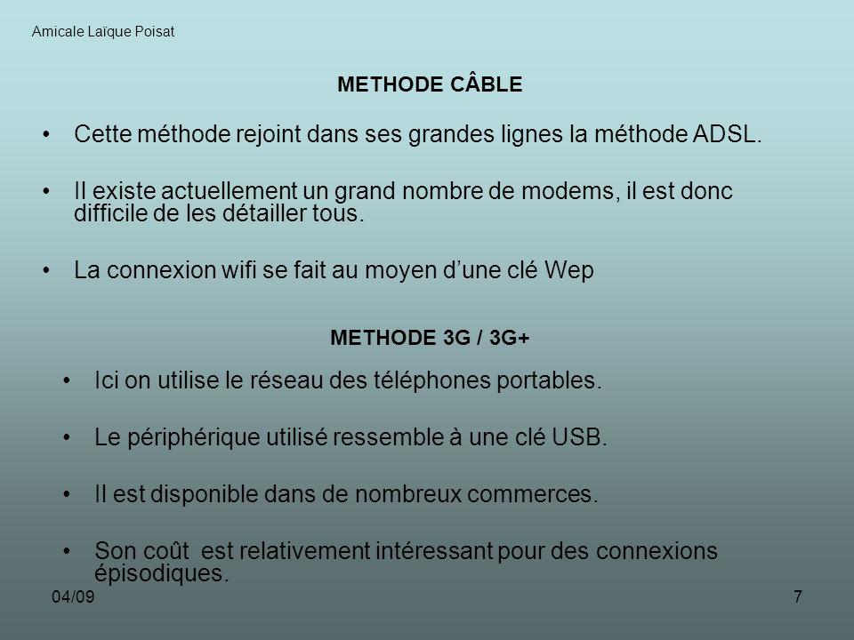 04/097 Cette méthode rejoint dans ses grandes lignes la méthode ADSL.