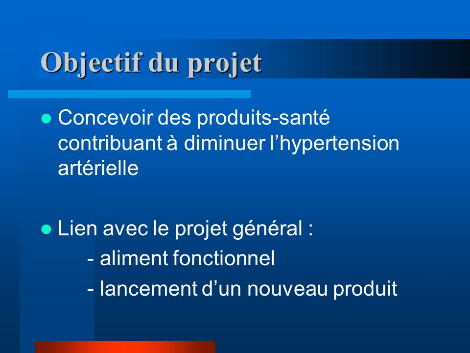 Plan du projet I) L Alimentation Santé 1.DéfinitionINGREDIA 2.