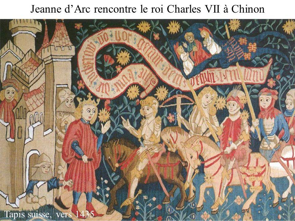 Jeanne dArc rencontre le roi Charles VII à Chinon Tapis suisse, vers 1435