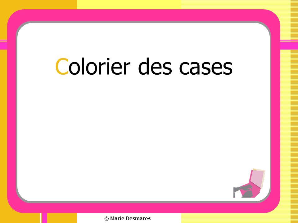 © Marie Desmares Colorier des cases