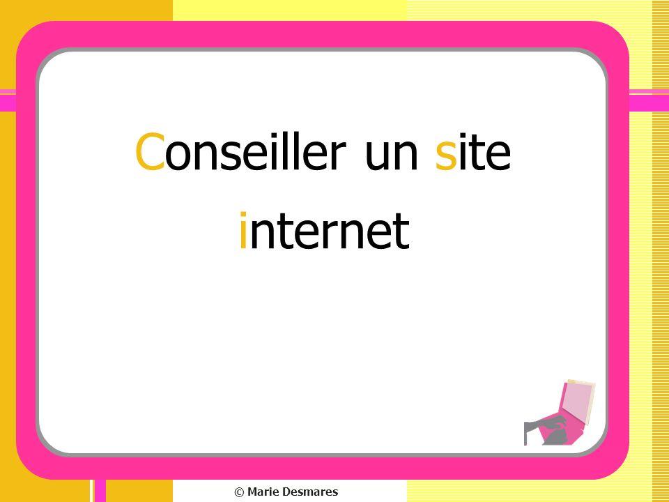 © Marie Desmares Conseiller un site internet