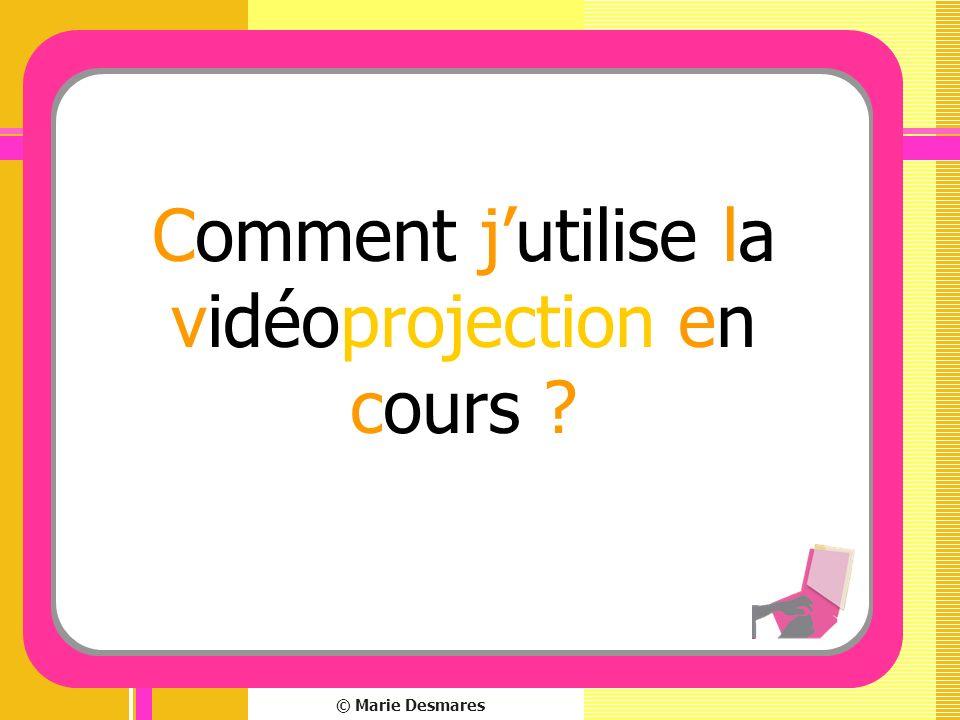 © Marie Desmares Comment jutilise la vidéoprojection en cours ?