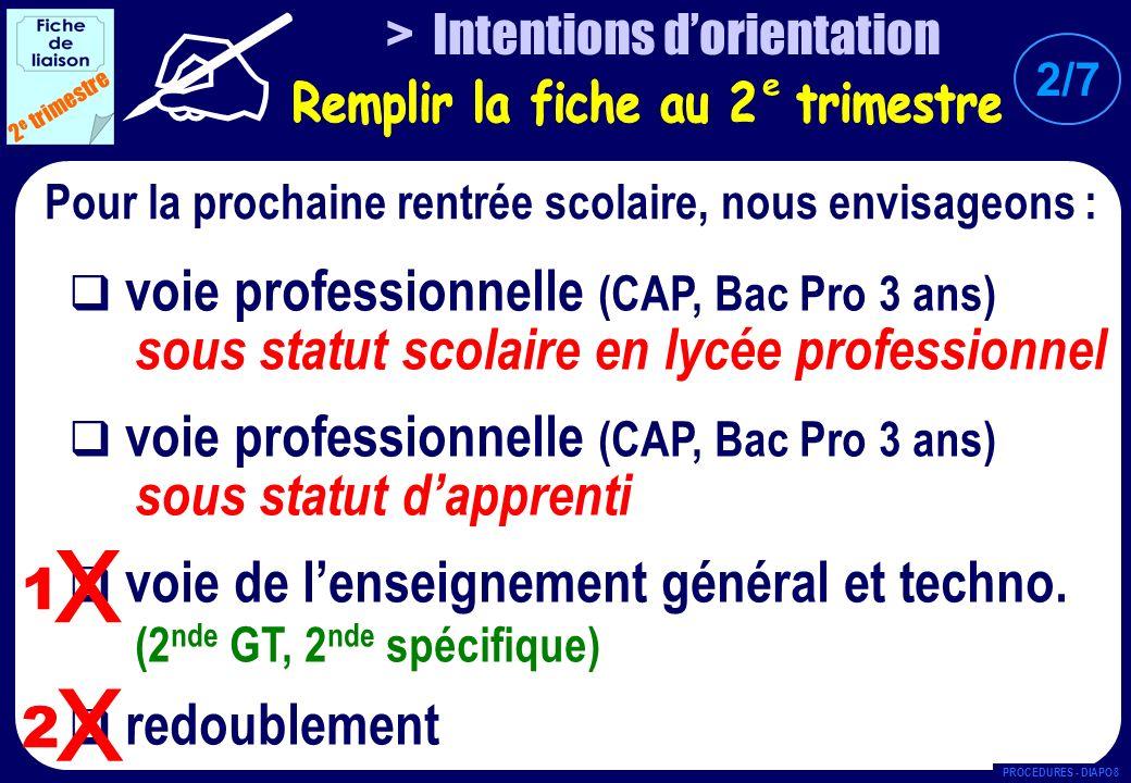 SECONDE GÉNÉRALE & TECHNOLOGIQUE 3 e trimestre N° ETABLISSEMENT SOUHAITE LV1 1 er ENSEIGNEMENT DE DETERMINATION 2 ème ENSEIGNEMENT DE DETERMINATION OPTION FACULTATIVE VOIE DE LENSEIGNEMENT GÉNÉRAL & TECHNOLOGIQUE SECONDE SPECIFIQUE (ex.