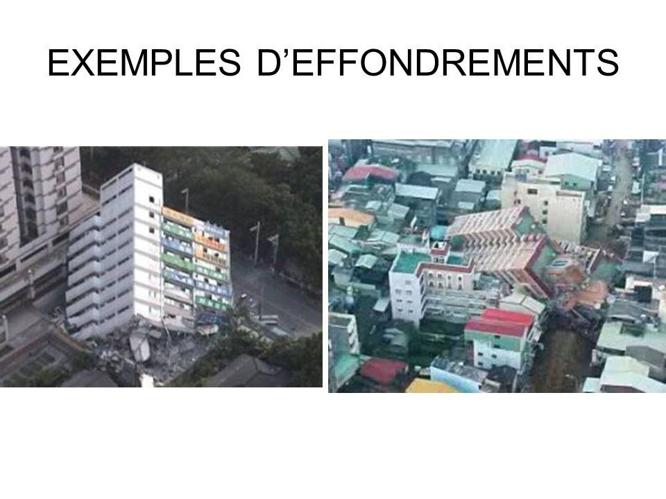 EXEMPLES DEFFONDREMENTS